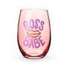 Boss Babe Stemless Wine Glass by Blush®