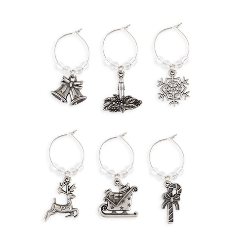 Jolly: Holiday Wine Charms