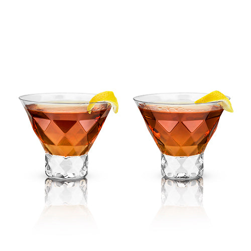 Raye: Gem Crystal Martini Glasses (VISKI)