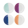"Assorted Color Dip 7"" Paper Plate Set of 8"