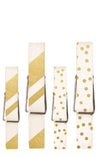 Assorted Gold Clothespins by Cakewalk