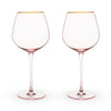 Rose Crystal Red Wine Glass Set by Twine®