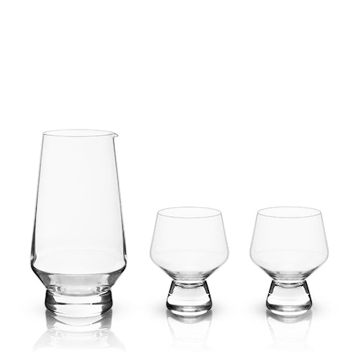 Raye: Footed Daiginjo Sake Set (3-Piece Set) (VISKI)