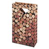 2-Bottle Corks Wine Bag