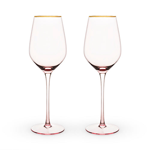 Rose Crystal White Wine Glass Set by Twine®