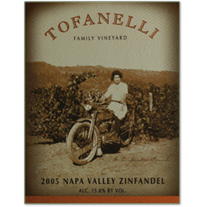 Tofanelli Vineyards 2012 Estate Zinfandel, Napa Valley - Brix26