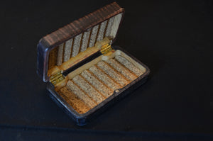 "3x5"" Blue dyed tiger maple fly box"