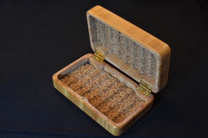 "3x5"" Quilted Maple Fly box"