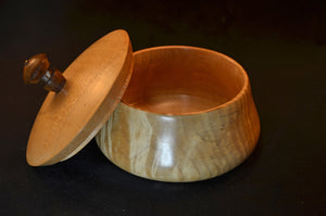 Hand turned, tiger maple vessel