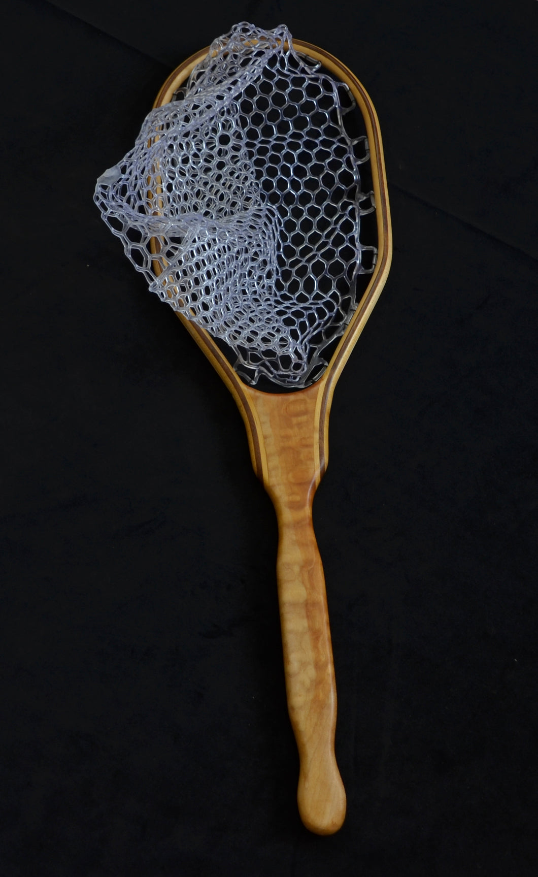 Quilted maple trout net