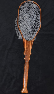 Extremely Highly figured Claro Walnut trout net