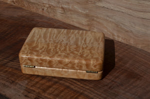 "4x6"" Quilted maple fly box"