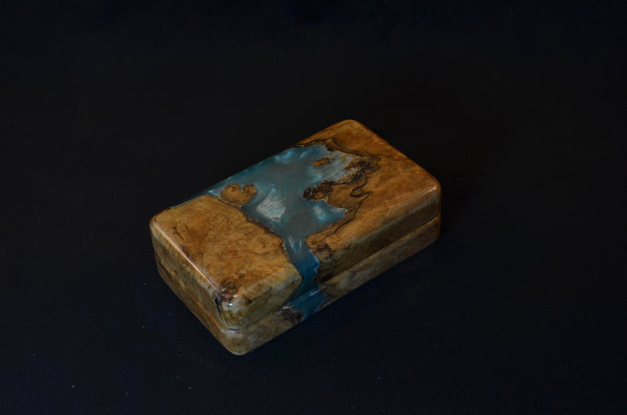 "3x5"" Epoxy and Maple burl"