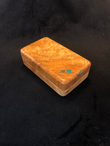 "3x5"" Figured Maple Fly box"