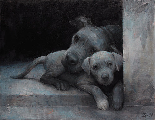 """Mom and Pup in the Shelter,"" sold to raise money for a California shelter"