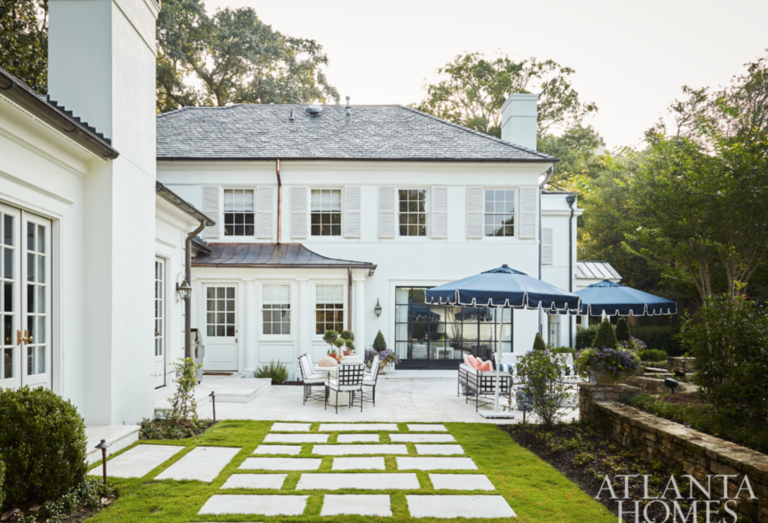 "The pavers. The umbrellas. The chic seating.  What else could you possibly want? (<a href=""https://atlantahomesmag.com/"" target=""_blank"">Atlanta Homes and Lifestyles</a>)"
