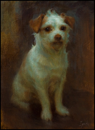 "And a dog of his own:  Ignat's  long-time (and now deceased) best friend in this portrait, ""My Good Friend"""