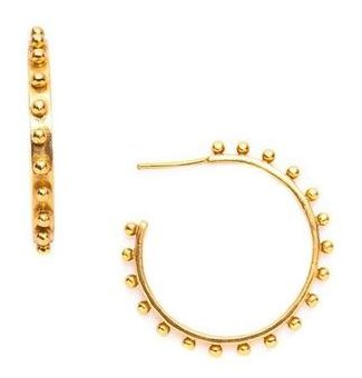 "I think every Huff'ington has her eye on these <a href=""https://huffharrington.com/products/julie-vos-soho-hoops-in-gold"" target=""_blank"">hoop earrings from Julie Vos</a>"