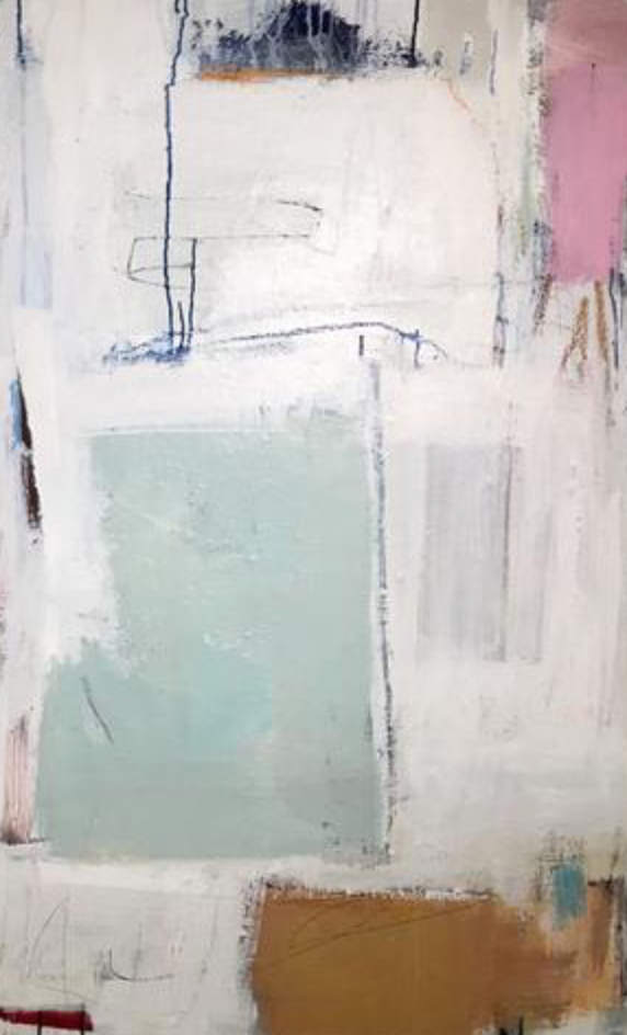 "<a href=""https://huffharrington.com/collections/ellen-rolli/products/ellen-rolli-threshold"" target=""_blank"">Threshold</a>, 48 x 30.   We love how Ellen's soft palette holds its own because of her ability to compose the work so beautifully and powerfully."