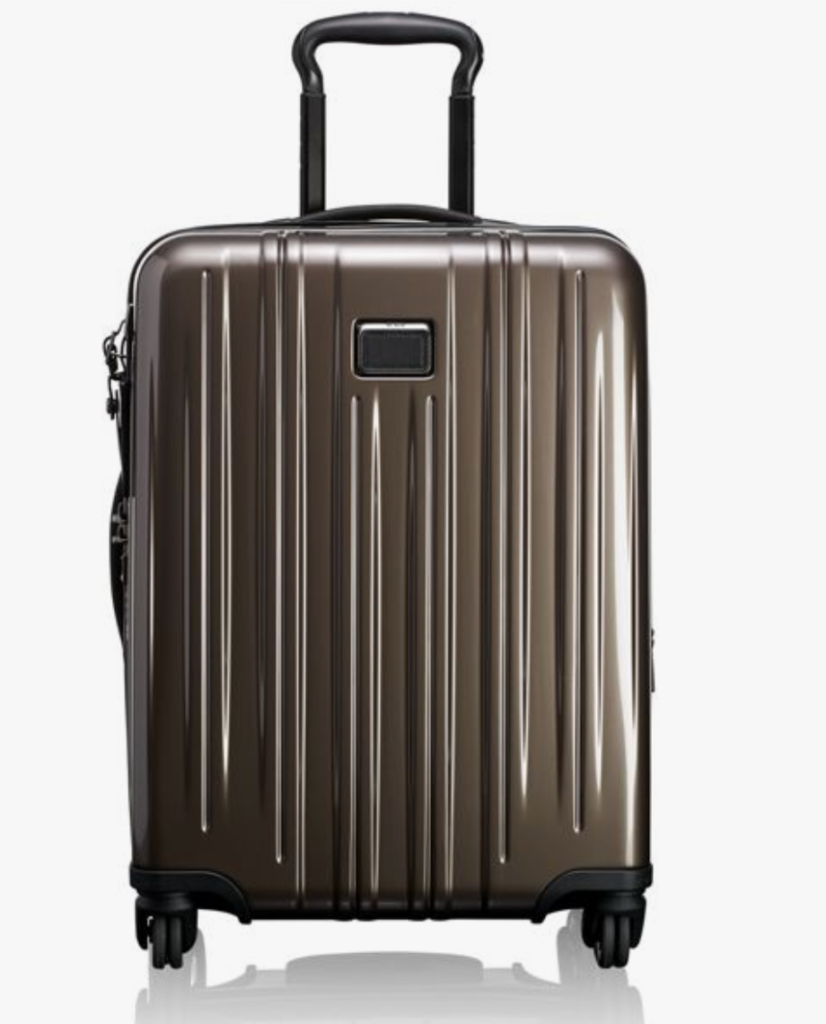 "Tumi's sleek <a href=""https://www.tumi.com/p/continental-expandable-carry-on-097606T315"" target=""_blank"">bags</a> are lightweight and indestructible."