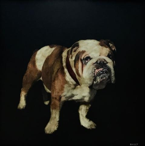 "<a target=""_blank"" href=""https://huffharrington.com/collections/dawne-raulet"">Kirby, by Dawne Raulet</a>, 30 x 30, $3,300."