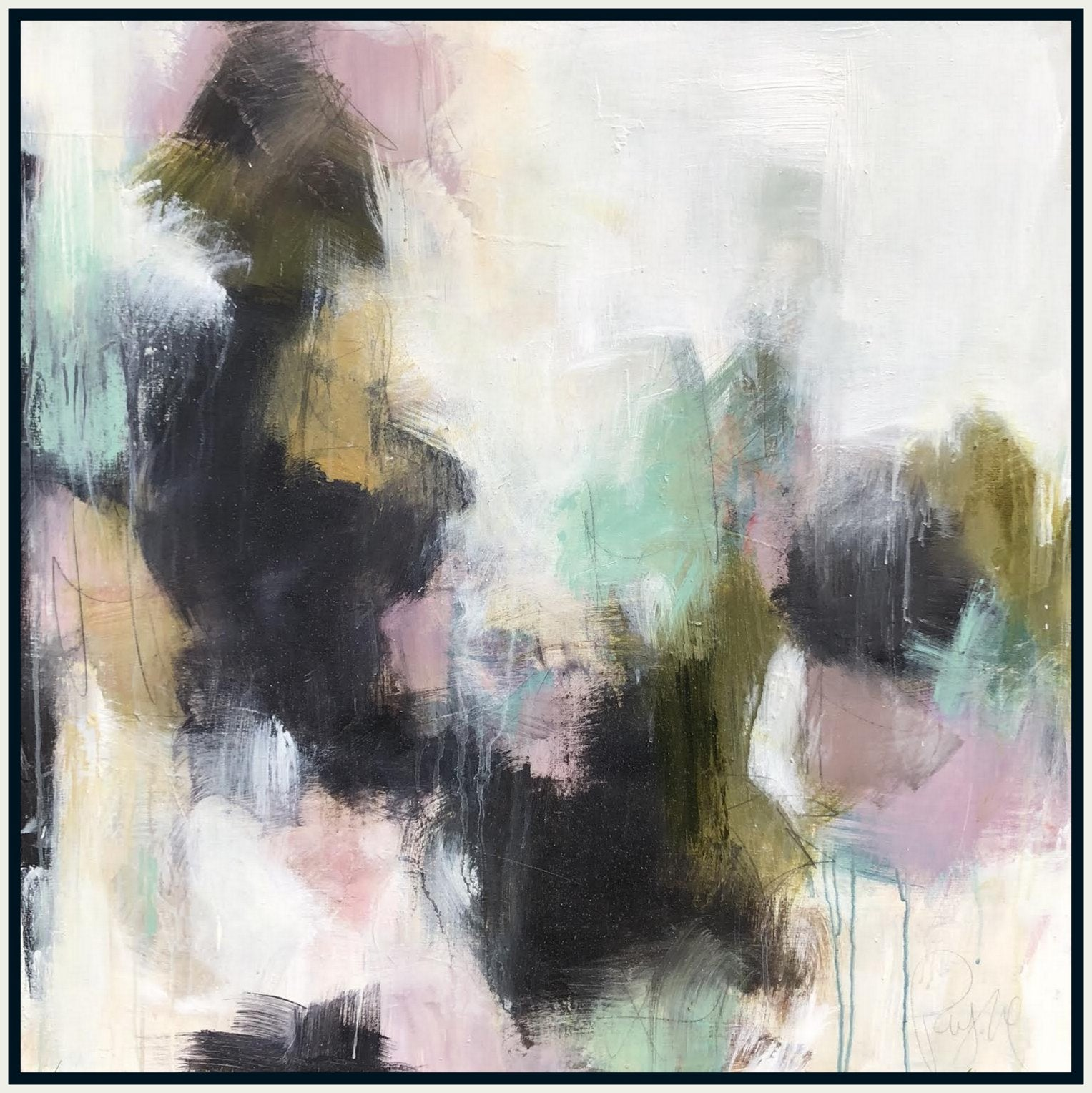 "This new painting by <a href=""https://huffharrington.com/collections/melissa-payne-baker"" target=""_blank"">Melissa Payne Baker</a> is another great example of an abstract paintings with perfect balance and composition."