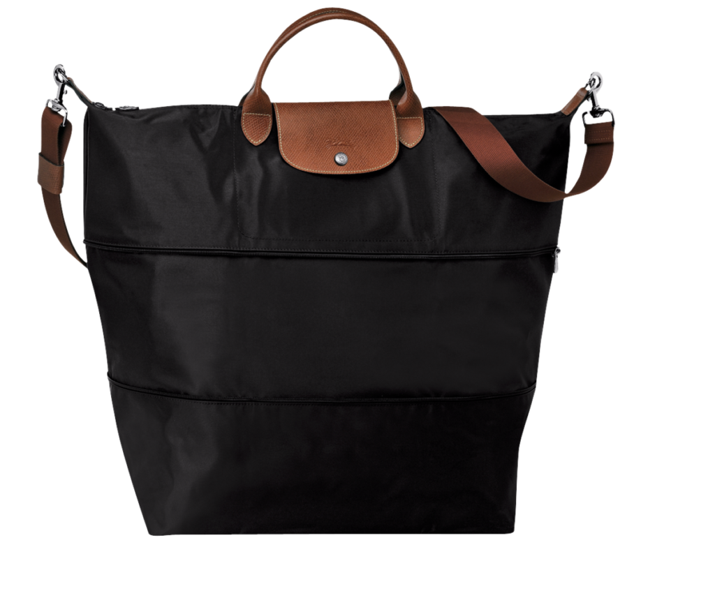 "Longchamp's <a href=""https://us.longchamp.com/products/le-pliage/travel-bag/l1911089001"" target=""_blank"">expandable and foldable tote</a> is perfect for Paris."
