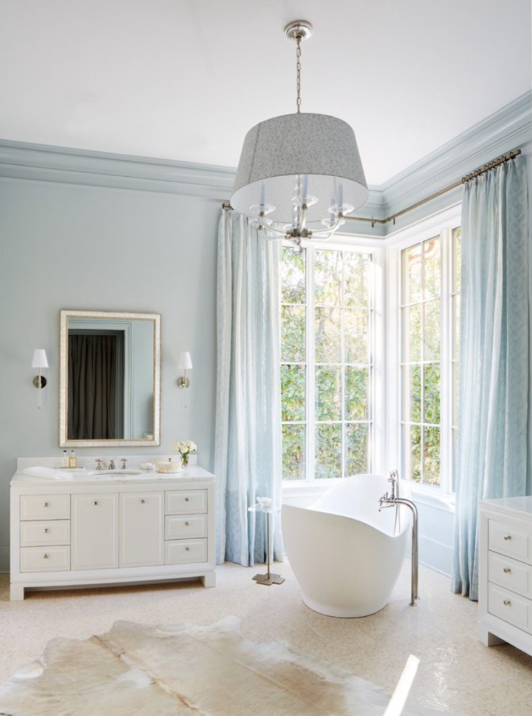 "More from <a href=""http://www.cathyrhodesinteriors.com/"" target=""_blank"">Cathy Rhodes</a> – the master bath."