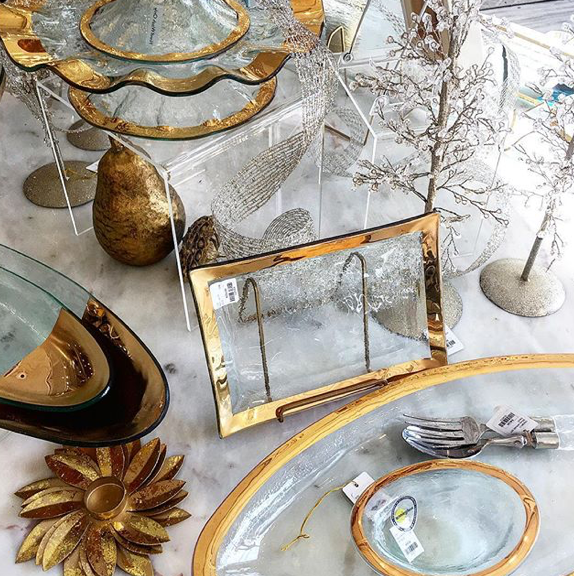 The holiday palette spills over to our pretty serving plates and trays, too.