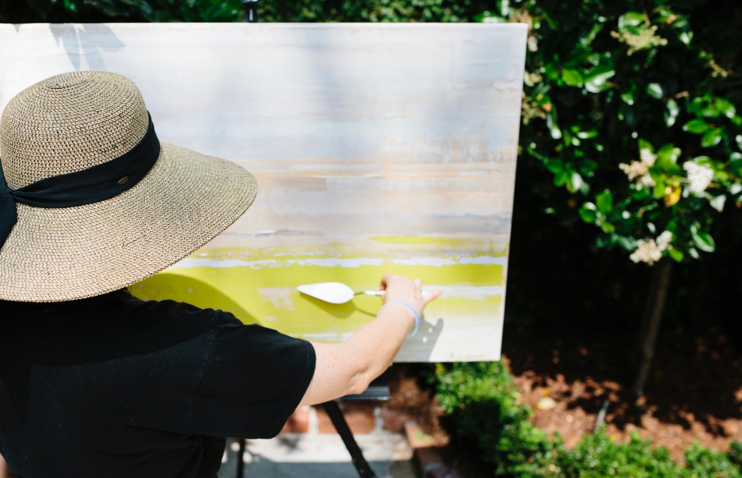Barbara Sussberg, painting en plein air