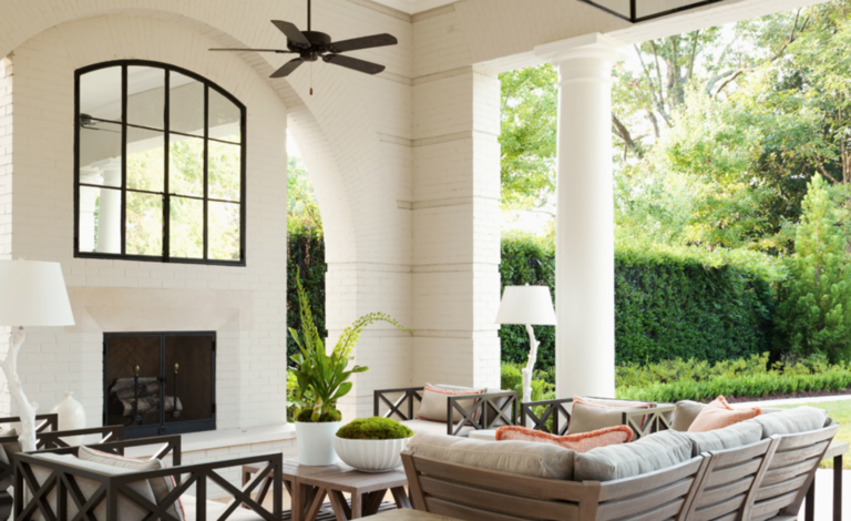 "The secret ingredient to a perfect porch? Make it feel like any other interior room.  <a href=""https://bethwebb.com/"" target=""_blank"">Beth Webb</a> sure knows how to do that.  (<a href=""https://atlantahomesmag.com/article/outdoor-elegance/"" target=""_blank"">Atlanta Homes and Lifestyles</a>/Emily Followill)"