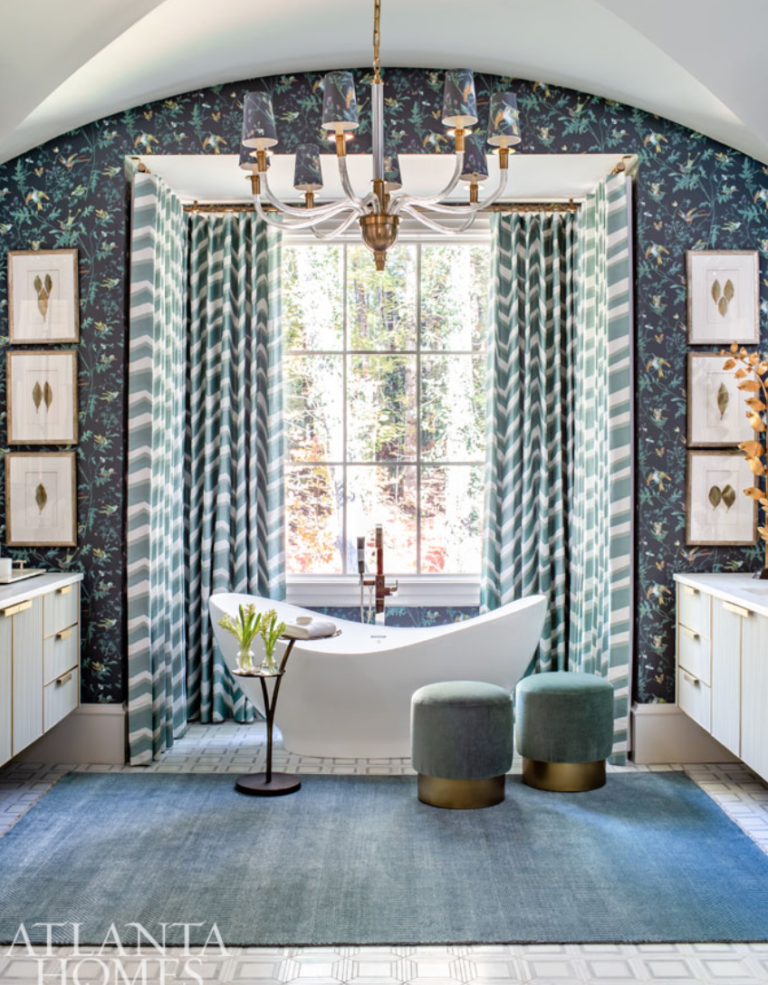 "When a master bath feels like a room you want to spend the day in, you know it's a beauty. <a href=""http://www.csocci.com/home.html"" target=""_blank"">Chris Socci</a> worked his magic (and, we're proud to say, with items from the store.)"