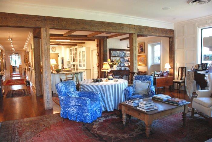 "View towards the kitchen and the expansive long hallway in Alice's Buckhead ""bastide"""