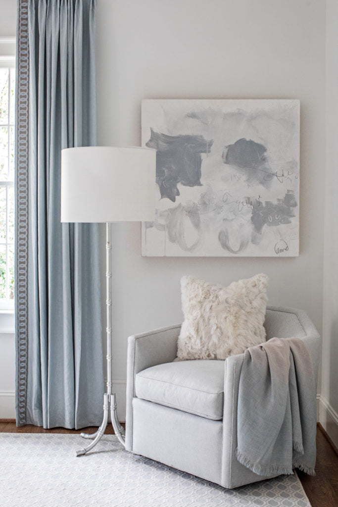 Kate always uses great art in her interiors. Photo: Heidi Harris