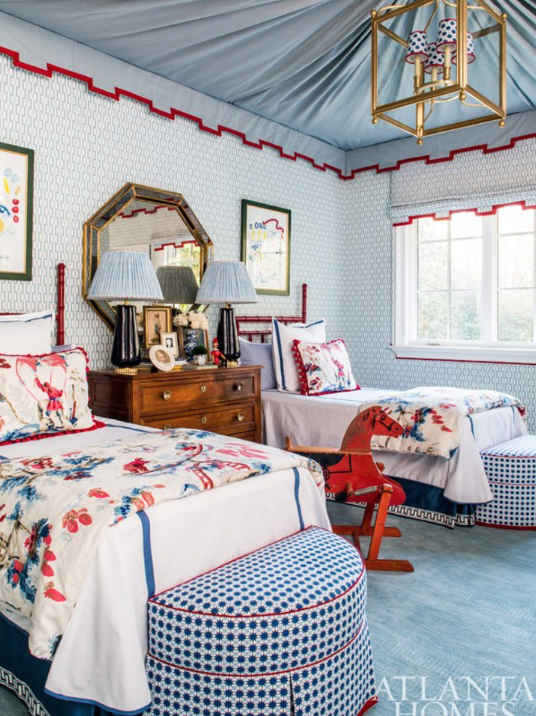 "<a target=""_blank"" href=""https://mallorymathison.com/"">Mallory Mathison</a> is one of our favorite designers (and we loved watching her in action on one of our Paris buying trips last fall!). This room sums up her preppy, pretty and chic vibe."