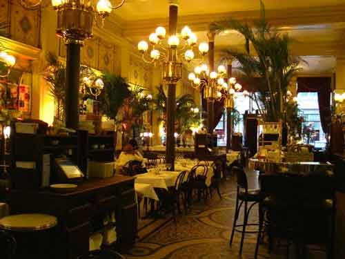 The sumptuous decor of the iconic Grand Colbert restaurant