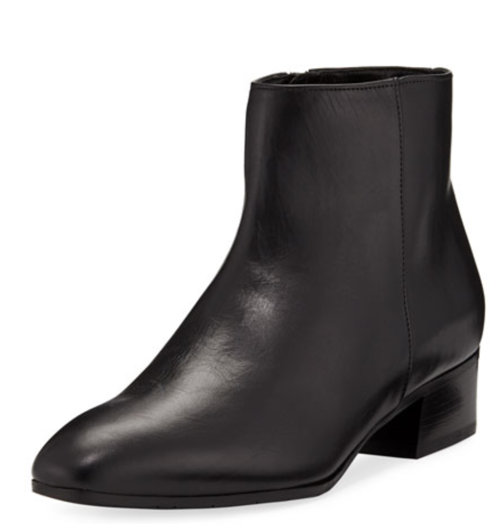 "We also love <a href=""https://www.neimanmarcus.com/p/aquatalia-fuoco-leather-ankle-boots-prod212640267?childItemId=NMX49FM_&uuid=PDP_PAGINATION_b4e839d2af5d5eaeb6f9ac768700811d_GlMoXYtaSZSfhlW6GZhd1kHJ&page=0&position=5&navpath=cat000000_cat000141_cat47190746_cat45140735"" target=""_blank"">Aquatalia</a> whose boots are gorgeous – and waterproof."