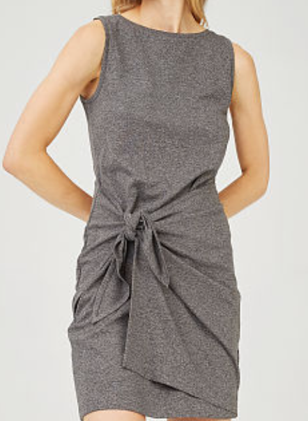 "This cute little <a href=""http://www.clubmonaco.com/product/index.jsp?productId=152277226"" target=""_blank"">tie-front dress</a> would be perfect for a casual dinner in Paris.  Throw on a little jacket or a trench and you're good to go."