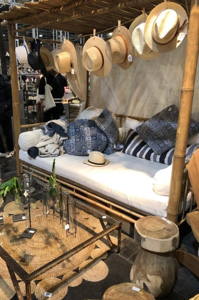 How fun and cheeky was this display, with the hats lining a bamboo nook!