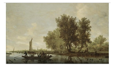 My personal favorite:  S. Ruysdael, A river landscape with figures in a ferry 24 x 36 sold for 2.2MM in 2006 at Sotheby's; Source ArtNet
