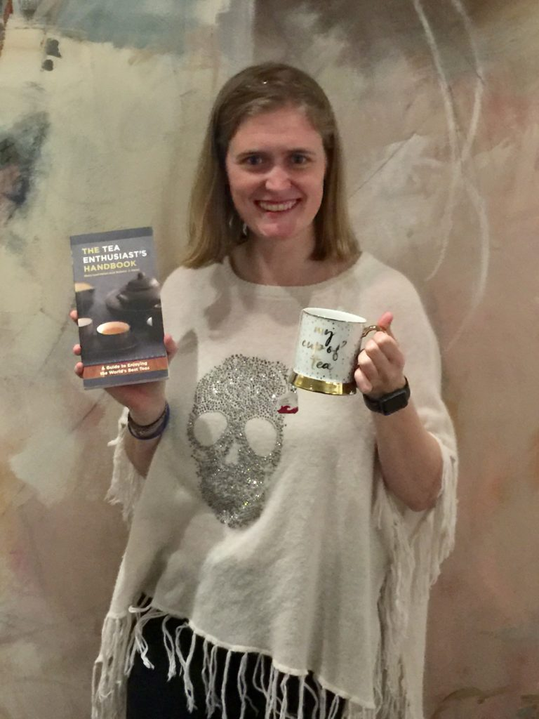 Alex's Secret Santa went above and beyond, buying her a mug for her beloved tea ... and a book on teas!