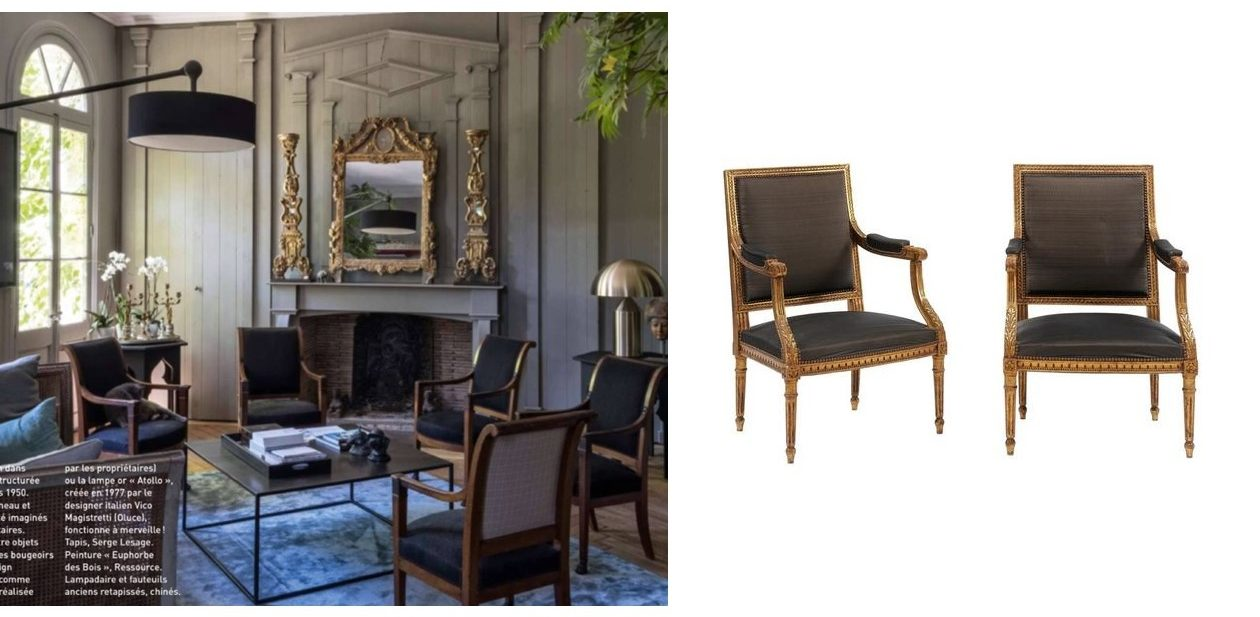 Looking for elegant armchairs? We've got some beauties, recovered in horsehair (yep!), from an elegant house in Paris.