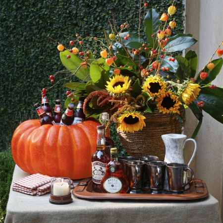 A fabulous fall spirits spread by Danielle Rollins, image by Sara Hanna.
