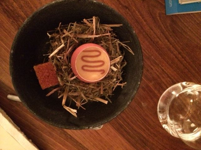 "An ""Amuse bouche"" at David Toutain; creative, a little offbeat, and … don't eat the hay!"