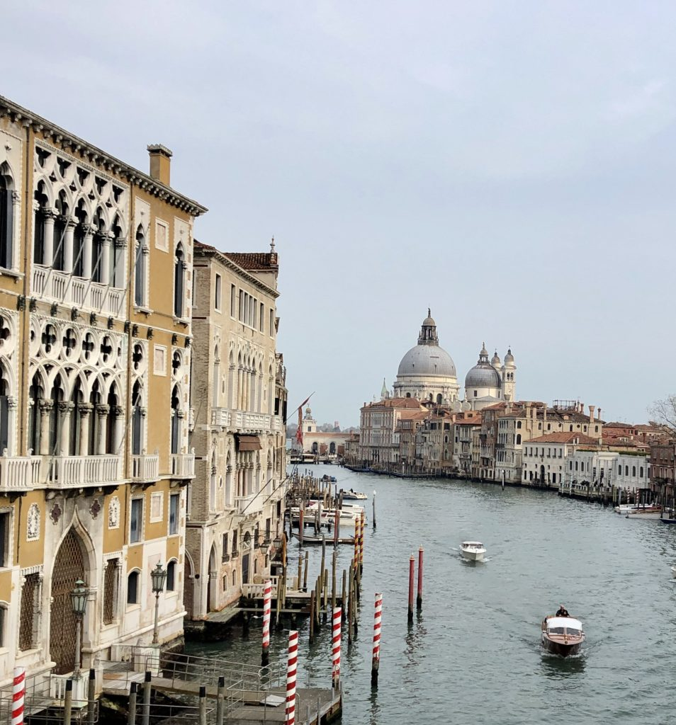 "Every time we turned a corner the view was a ""gasp,"" like this one from the Ponte dell'Academia"