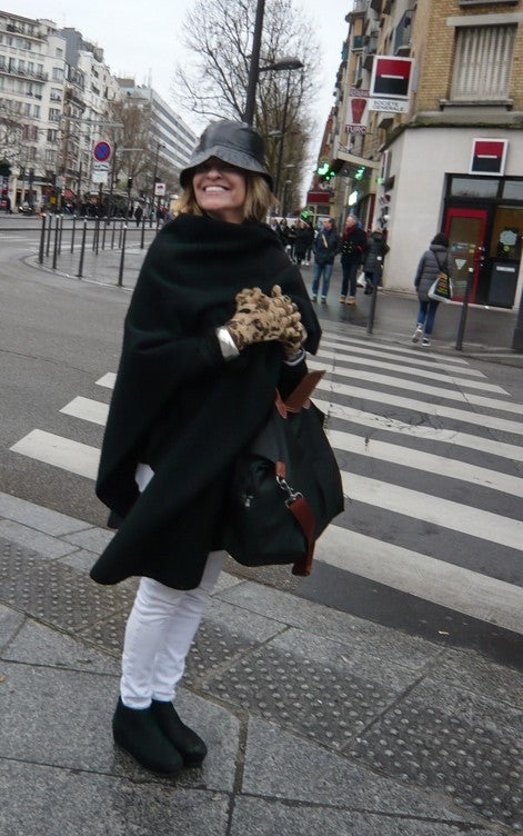 Linda in Paris with that mega-watt smile.