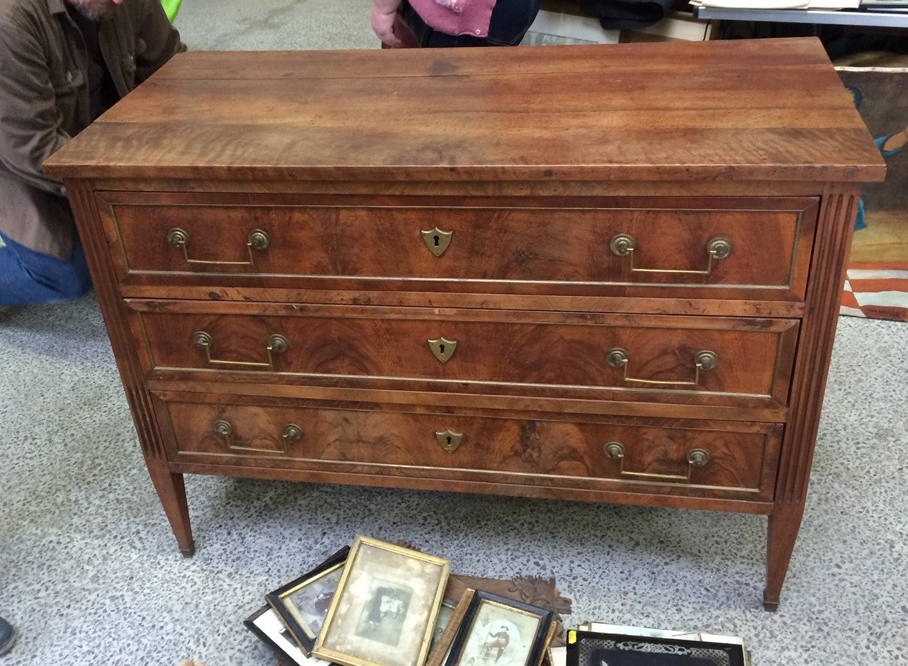 You may be lucky and spot a gorgeous Louis XVI walnut chest, that just needs a little TLC ...