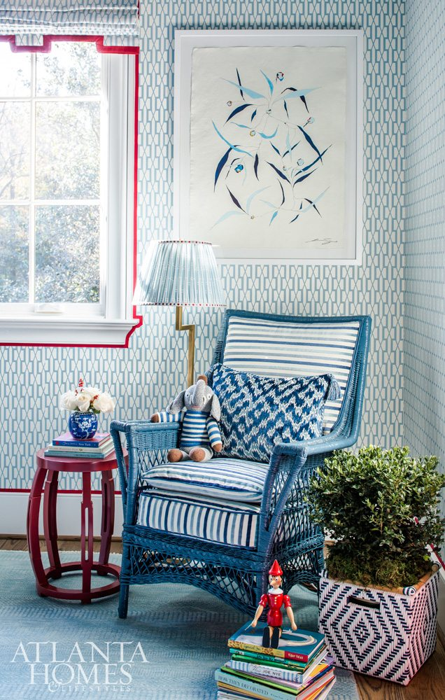 For a recent Show House, Mallory, the mother of twin boys, chose to do a boy's room, and no detail was overlooked in her adorable selection.