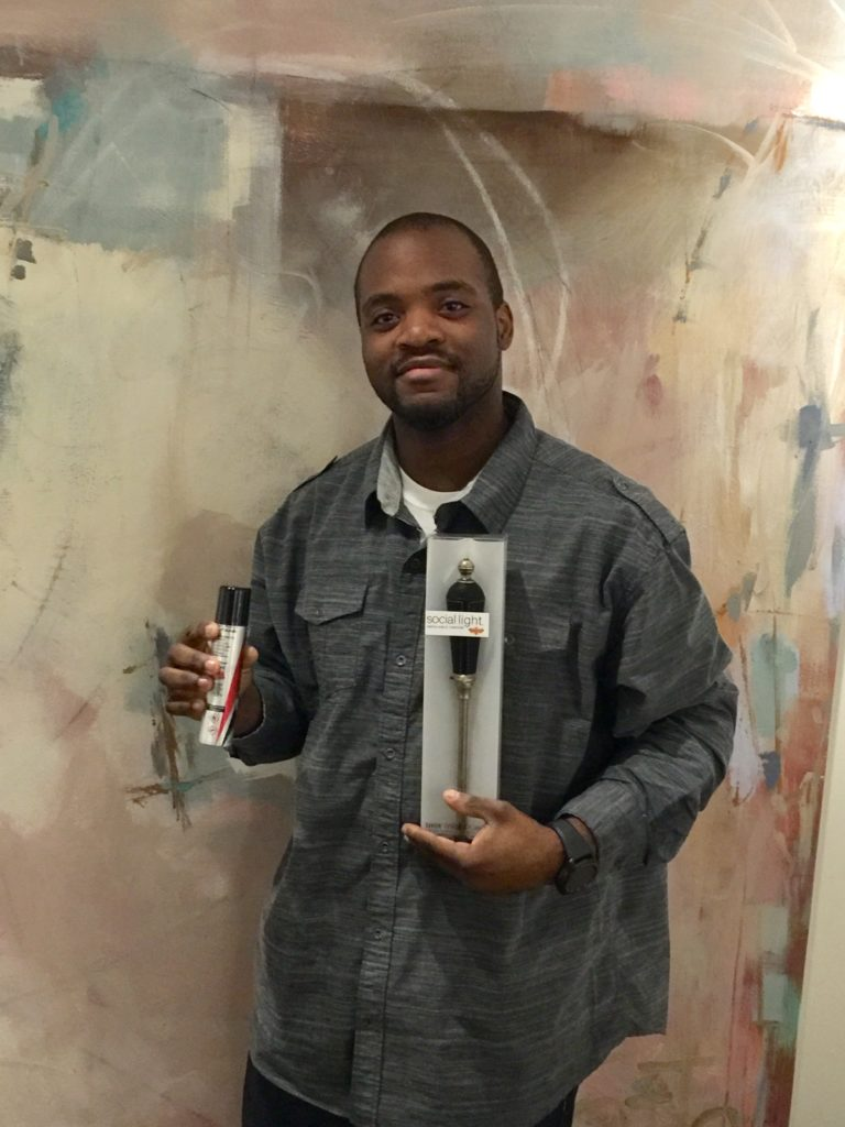 Marlon, a barbecue aficionado, lit right up when Secret Santa delivered this good looking Social Light lighter!