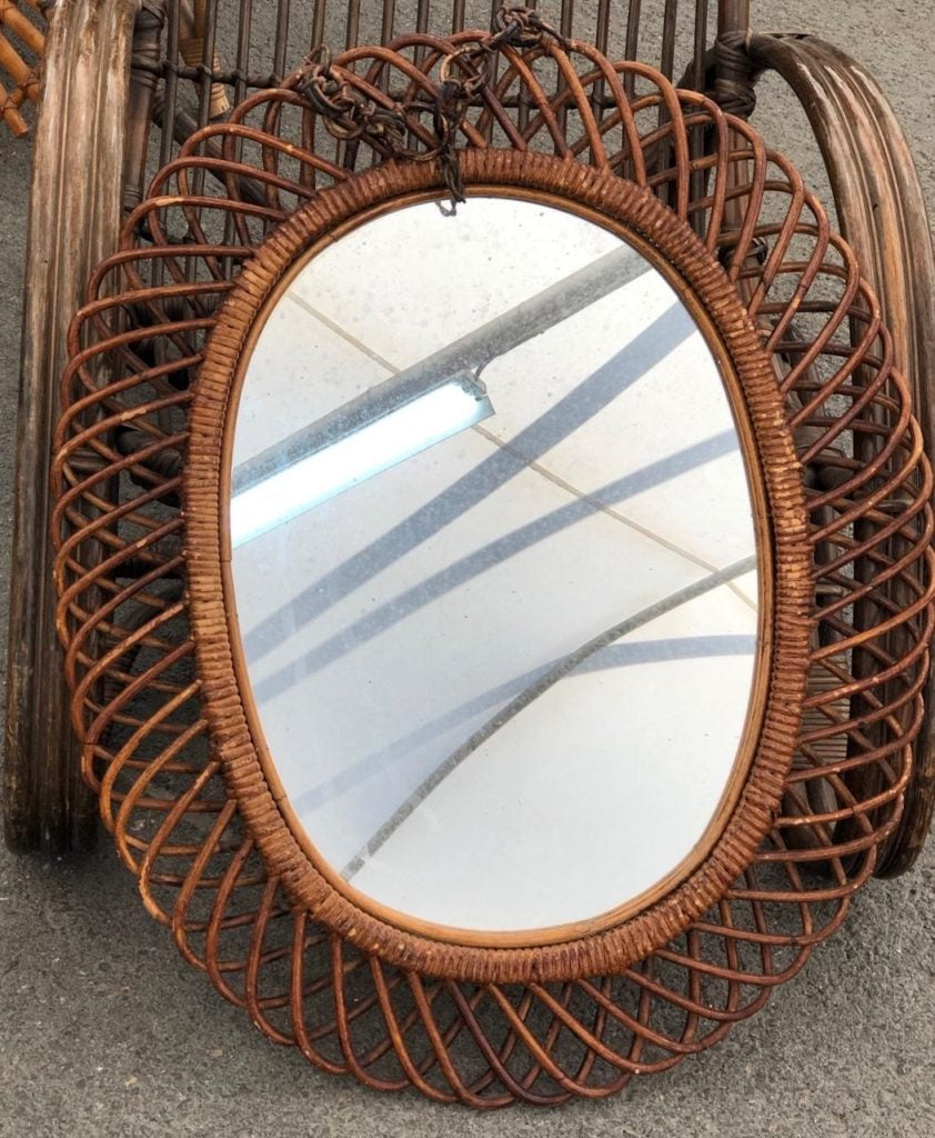 Another pretty rettan mirror that we snagged along the way